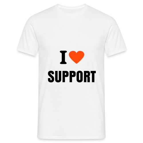 I ♥ Support - Herre-T-shirt