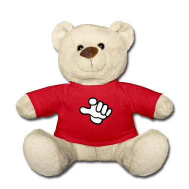 Red hand sign we want you (a, 2c) Teddies