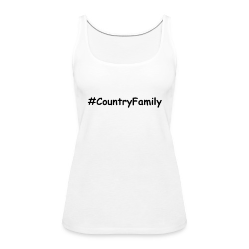 #CountryFamily Women's Vest Black Text - Women's Premium Tank Top