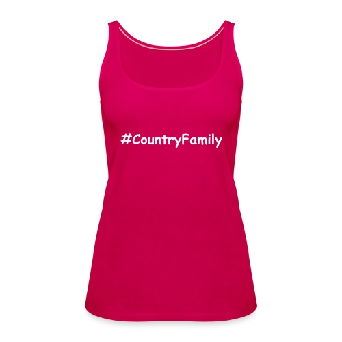 #CountryFamily Women's Vest White Text - Women's Premium Tank Top