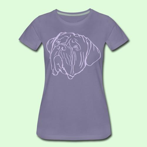 Face de Dogue de Bordeaux - T-shirt Premium Femme