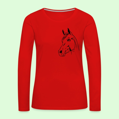 Tête de Cheval - T-shirt manches longues Premium Femme