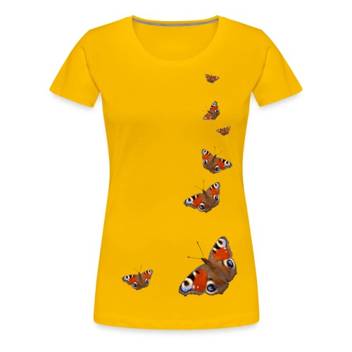 Schmetterling Flügel Tagpfauenauge Insekt Frühling - Frauen Premium T-Shirt