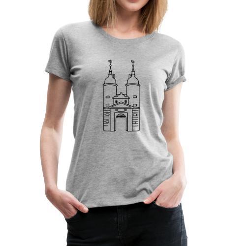 Brückentor Heidelberg - Frauen Premium T-Shirt
