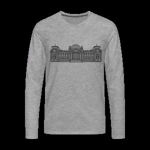 Reichstagsgebäude in Berlin - Camiseta de manga larga premium hombre