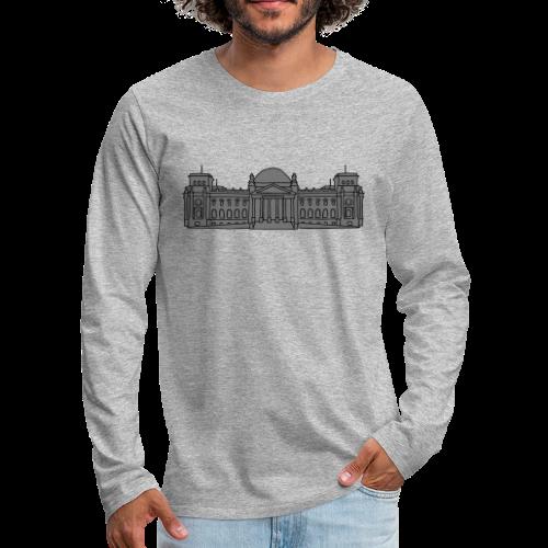 Reichstagsgebäude in Berlin - Männer Premium Langarmshirt