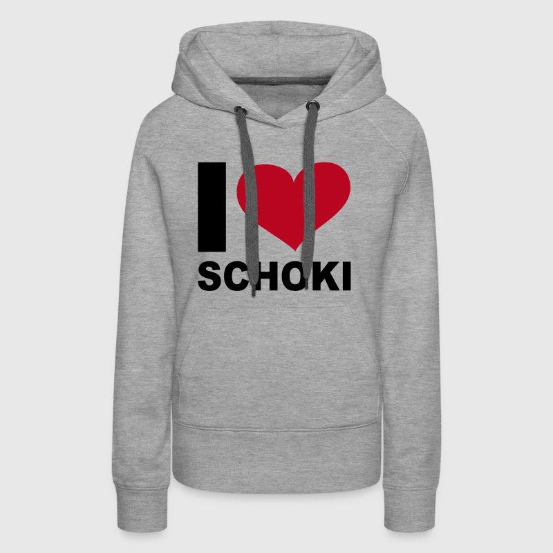 i love schoki hoodie spreadshirt. Black Bedroom Furniture Sets. Home Design Ideas