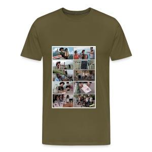 Männer Shirt Stancil Jodelschule - Männer Premium T-Shirt