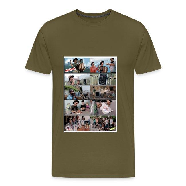 Männer Shirt Stancil Jodelschule