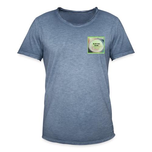 blauwe t-shirt met korte mauw heren - Mannen Vintage T-shirt