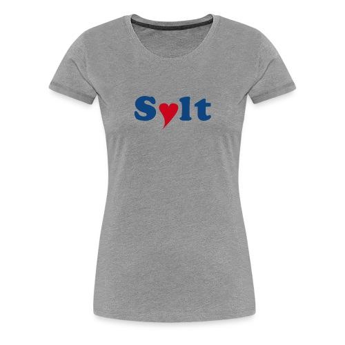 Sylt mit Herz - Frauen Premium T-Shirt