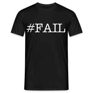 #FAIL black - Mannen T-shirt
