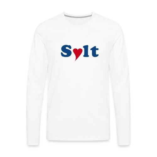 Sylt mit Herz - Männer Premium Langarmshirt
