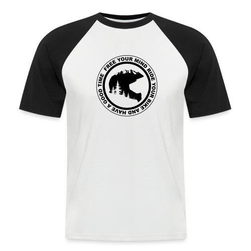 Mountainbike Fullface T-Shirt Baseballshirt - Männer Baseball-T-Shirt