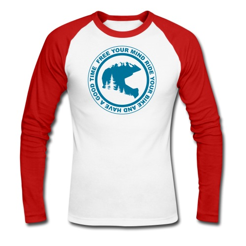 Mountainbike Fullface Langarmshirt - Männer Baseballshirt langarm