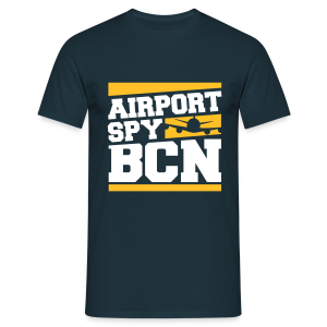 Airport Spy BCN (Free Choice of Colors) - Men's T-Shirt