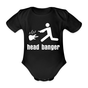 head banger - Baby Bio-Kurzarm-Body