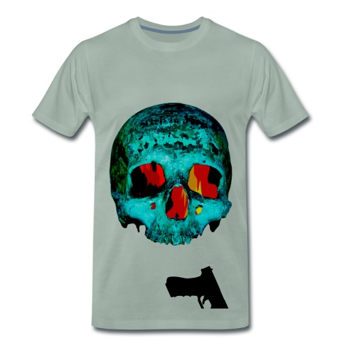 Gun & Skull  - Männer Premium T-Shirt