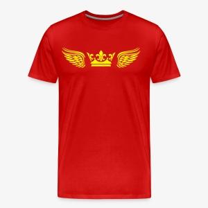 Krone Flügel Crown Wings Engelsflügel T-Shirt Männer 29 - Männer Premium T-Shirt