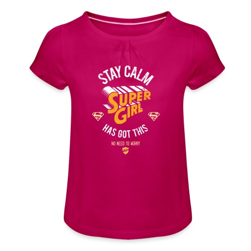 Mädchen-T-Shirt mit Raffungen