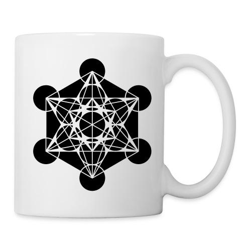 Tasse_double design_Metatron noir - Mug blanc