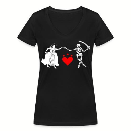 Tee shirt col V Femme Jacquotte Delahaye Flag - T-shirt bio col V Stanley & Stella Femme