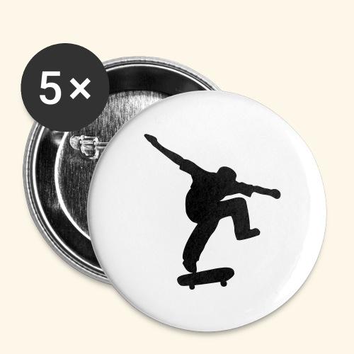 Badge skater - Lot de 5 moyens badges (32 mm)