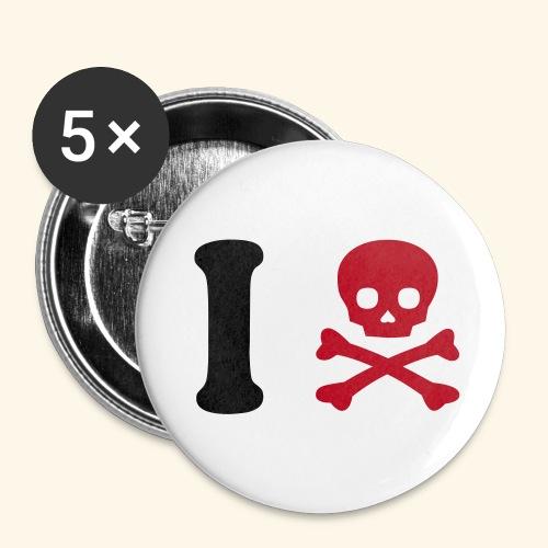 Badge I Dead - Lot de 5 moyens badges (32 mm)