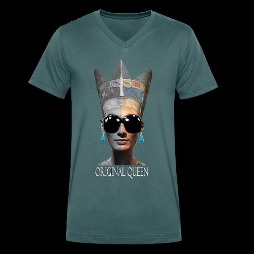 T-shirt Homme Nefertiti Original Queen - T-shirt bio col V Stanley & Stella Homme
