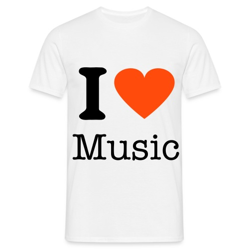 I Heart Music (Mens T-Shirt) - Men's T-Shirt