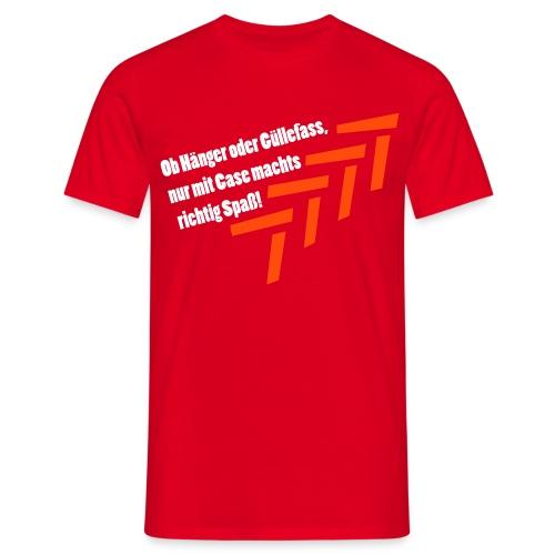 Case - T-Shirt rot - Männer T-Shirt