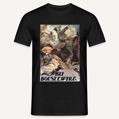 Bij bolszewika! (kolorowa) - Koszulka męska