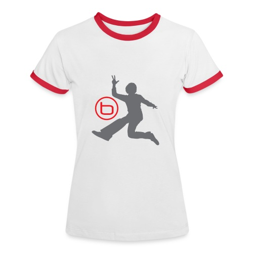 Benjamin - T-Shirt Dam, Röd/Vit - Kontrast-T-shirt dam