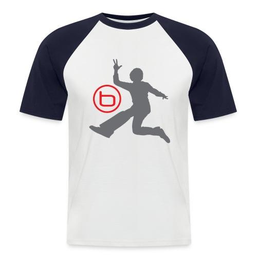 Benjamin - VIP T-Shirt, Vit/Röd - Kortärmad basebolltröja herr