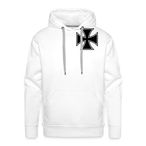 Iron-cross met groot rug logo klik voor foto's - Mannen Premium hoodie