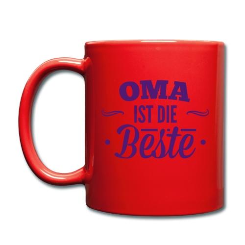 Tasse Oma ist die Beste - Tasse einfarbig