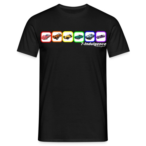 Rainbow Cars - Men's T-Shirt