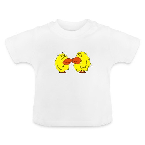Verliebte Vögel - Baby T-Shirt