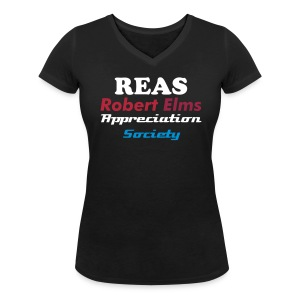 Robert Elms Appreciation Society  - Women's Organic V-Neck T-Shirt by Stanley & Stella