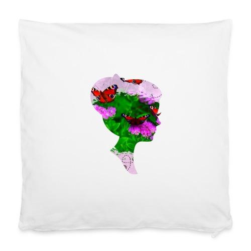 Schmetterling-Dame - Kissenbezug 40 x 40 cm