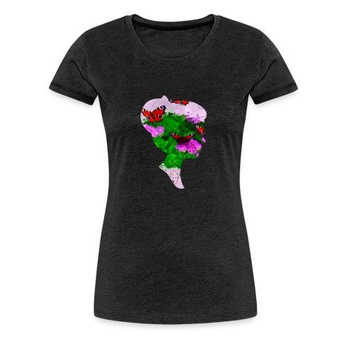 Schmetterling Dame - Frauen Premium T-Shirt