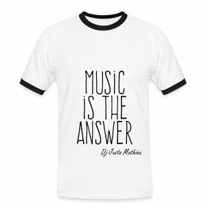 MUSIC IS THE ANSWER - T-shirt contrasté Homme