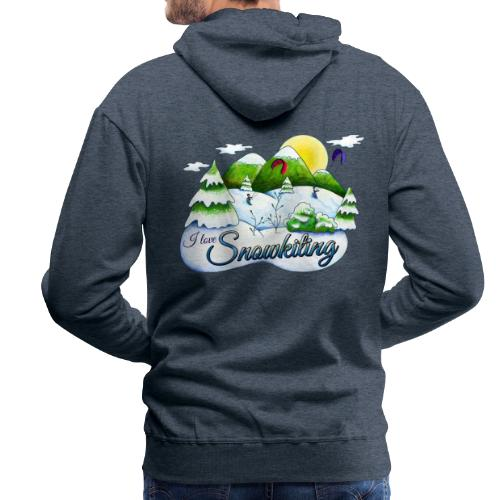 Snowkiting Pullover Burschn - Männer Premium Hoodie