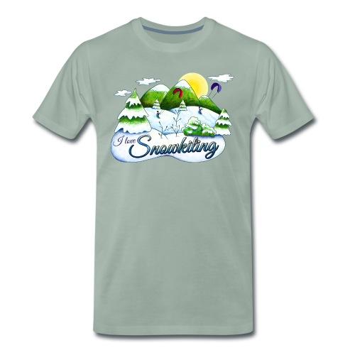 Snowkiting T-Shirt Burschn - Männer Premium T-Shirt