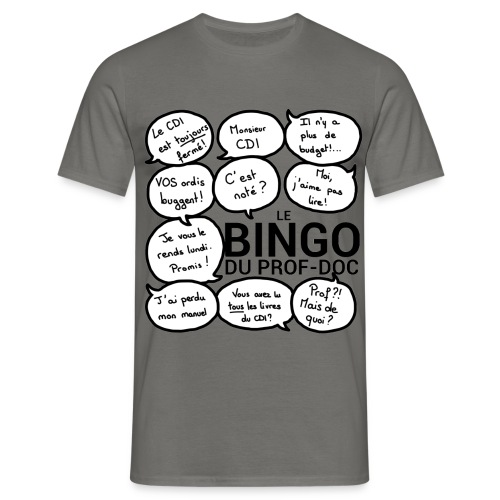 Tee-shirt homme : Bingo du prof-doc - T-shirt Homme