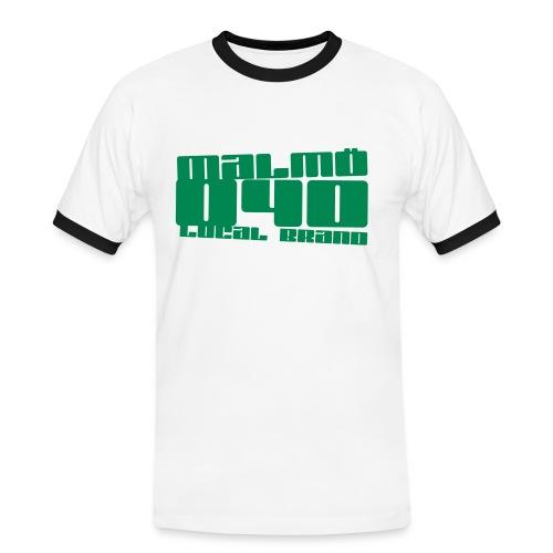 Malmö 040 Retro Tee - Kontrast-T-shirt herr