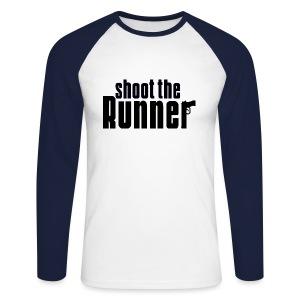 Shoot The Runner - Men's Long Sleeve Baseball T-Shirt