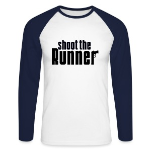 Shoot The Runner - Men's Long Sleeve Baseball T-Shirt