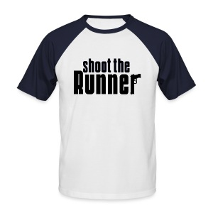 Shoot The Runner - Men's Baseball T-Shirt