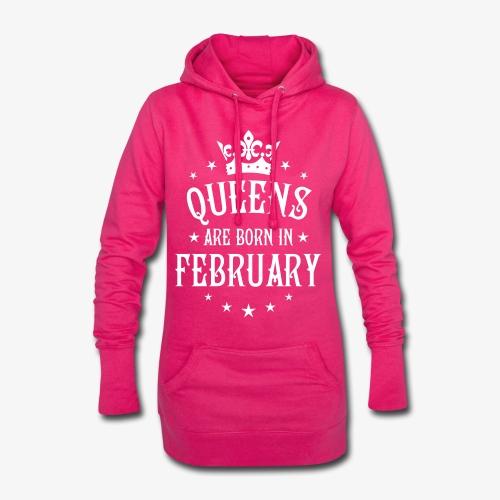 Queens are born in February Crown Legends Hoodie Kleid - Hoodie-Kleid